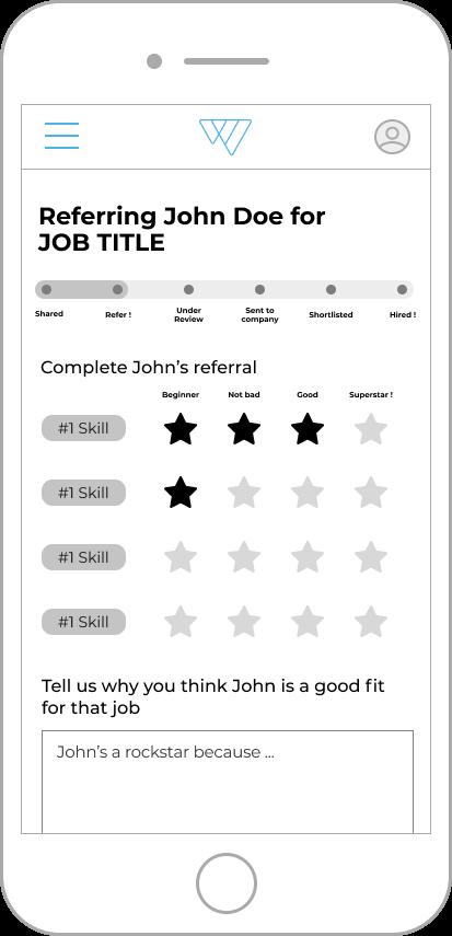 recommandation form mobile web design