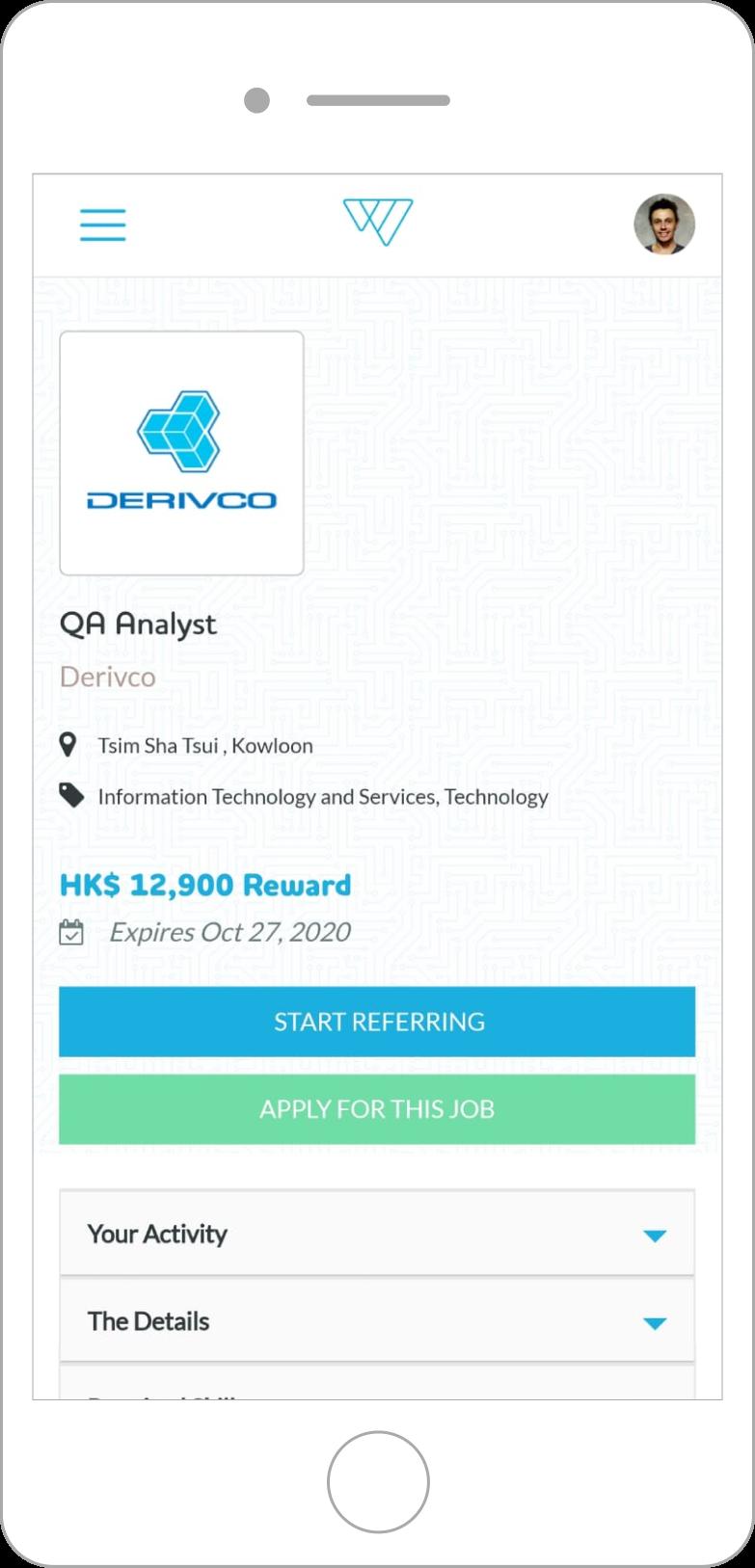 weesper job description mobile screen